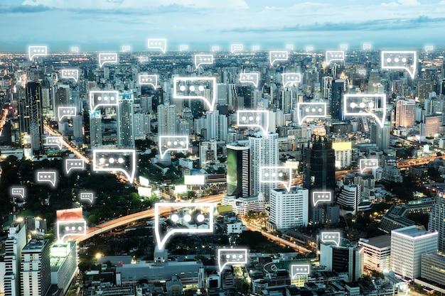 都市景観アイコンのシンボルのweb要素 無料写真