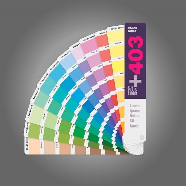 オフセット印刷用カラーパレットガイドとwebデザイナー用ガイドブックの図 Premium写真