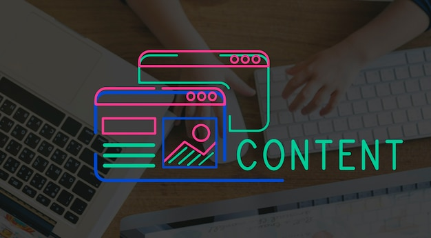 Website design content layout graphic Free Photo