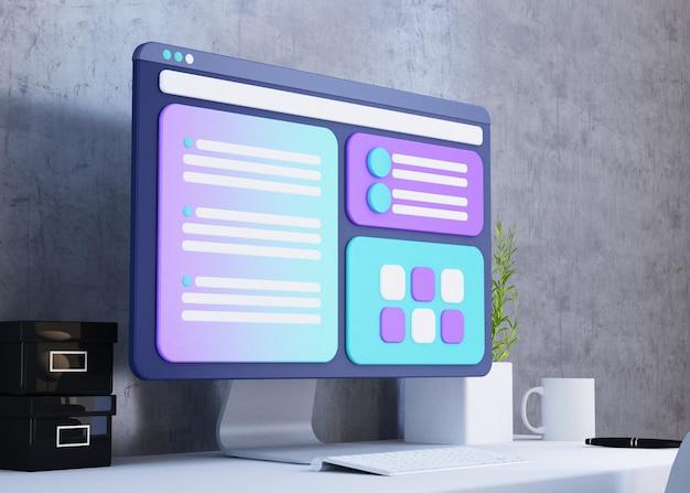 Website ux design concept Premium Photo