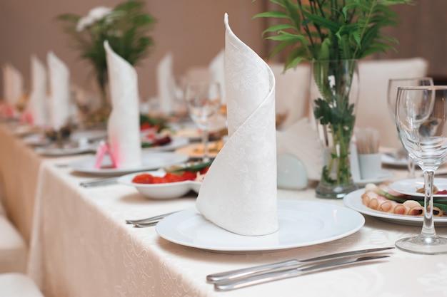Wedding banquet in a restaurant, party in a restaurant Premium Photo