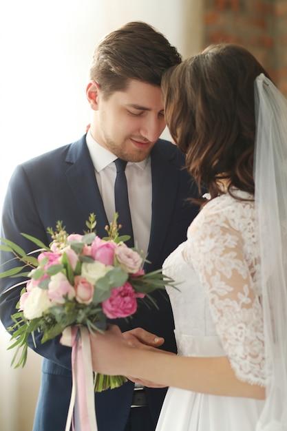 結婚式、新郎新婦 無料写真