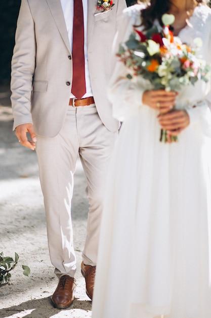 Wedding bride and groom Free Photo