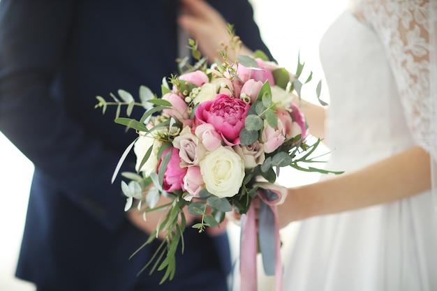 Wedding, bride and groom Free Photo