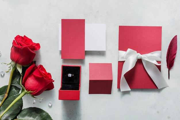Свадебная открытка с обручальным кольцом Бесплатные Фотографии