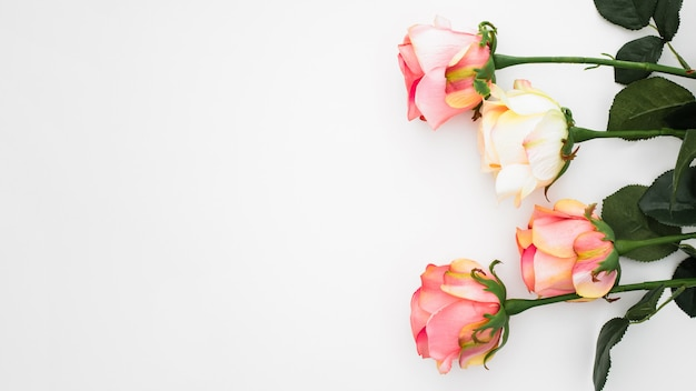 Wedding composition made with roses Free Photo