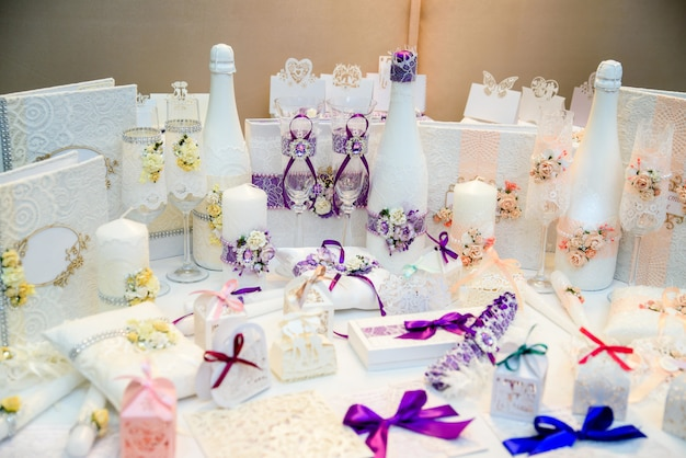 Wedding decor and decoration. Premium Photo