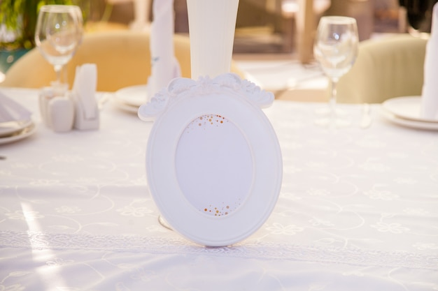 Wedding decor, number on the table Premium Photo