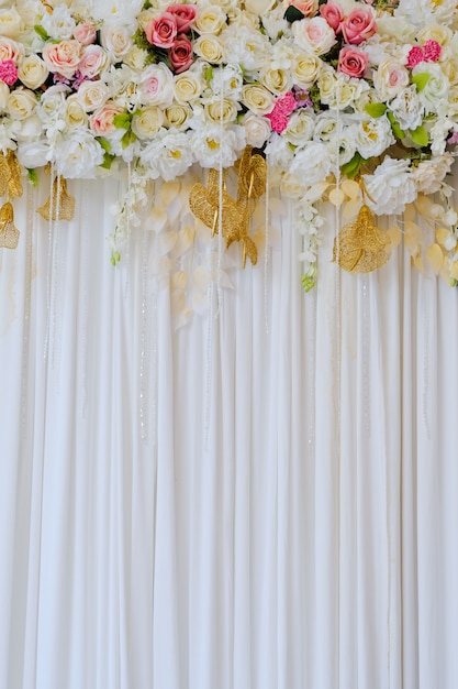 Premium Photo Wedding Decoration Flower Background
