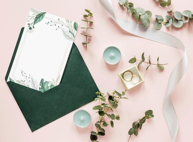 結婚式の装飾と招待状 Premium写真