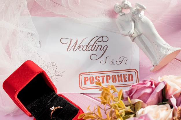 Wedding delayed due to covid19 Free Photo