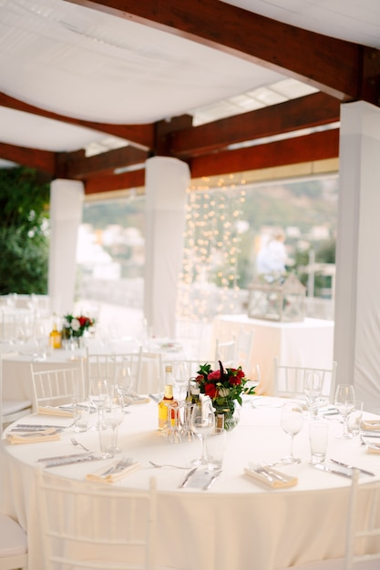 Wedding Dinner Table Reception Round, Round White Tablecloths For Wedding