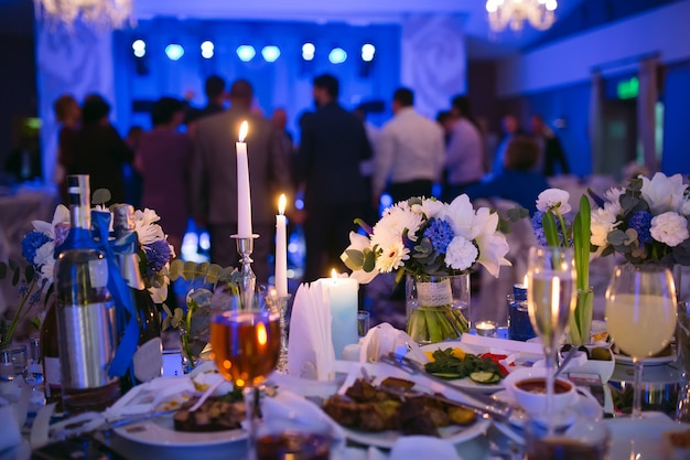 decorating ideas delectable image of wedding table.htm wedding table settings in the restaurant people dancing in the  in the restaurant people dancing