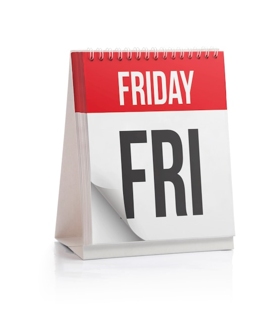 Week calendar, friday page Premium Photo