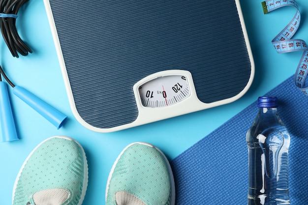 Аксессуары для похудения или здорового образа жизни Premium Фотографии