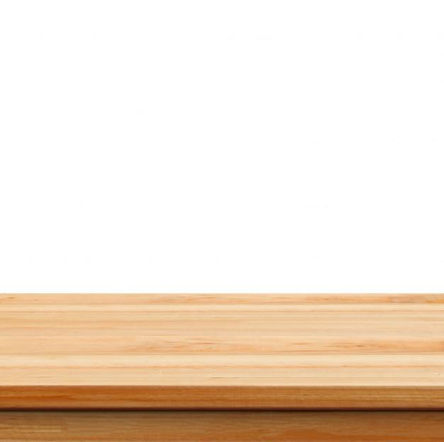 クローズアップクリア白い背景の上に木製のスタジオの背景 -  wel 無料写真