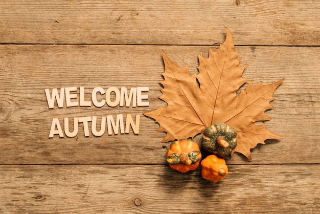 Welcome autumn composition Free Photo