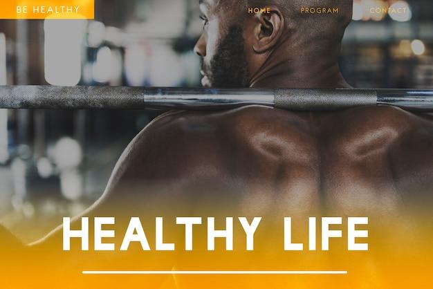Benessere fitness icona di stile di vita sano Foto Gratuite