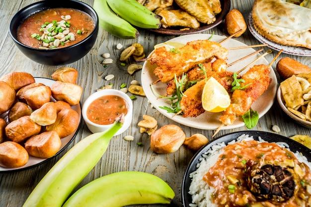 Западноафриканский ассортимент продуктов питания Premium Фотографии