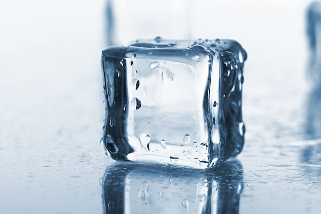 Wet and cold ice cubes Free Photo