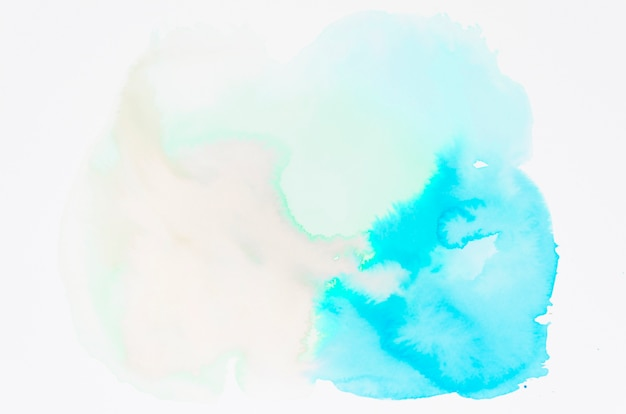 Wet watercolor spot on white backdrop Free Photo