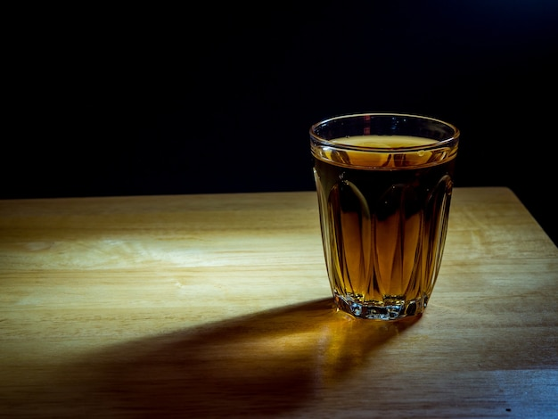 Whiskey in the glass Premium Photo
