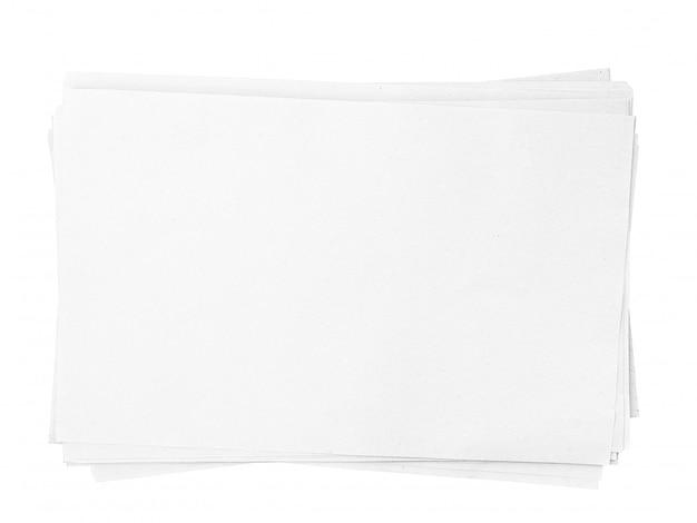 Белый лист бумаги формата а4, изолированные на белом фоне с обтравочный контур Premium Фотографии