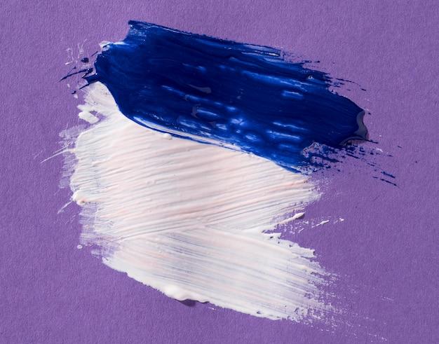 白と青のブラシストローク 無料写真