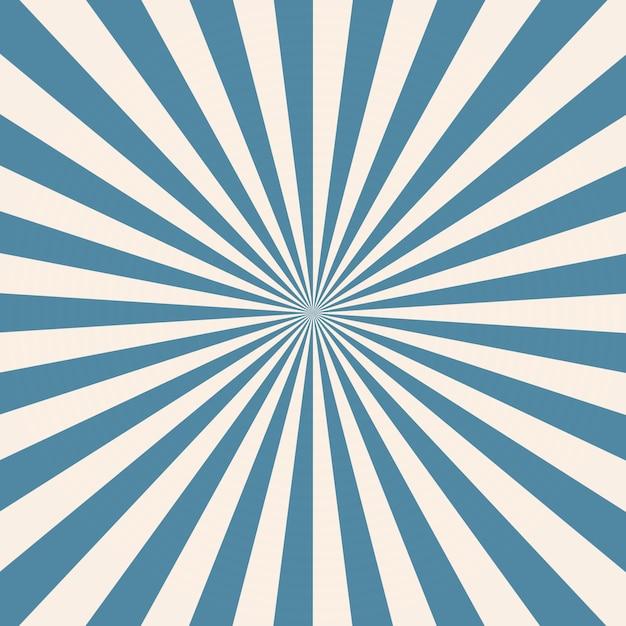 White And Blue Sunburst Pattern Background Premium Photo