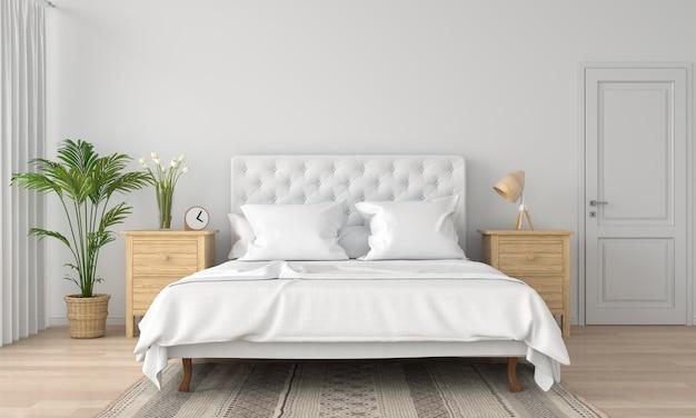 White bedroom interior Premium Photo