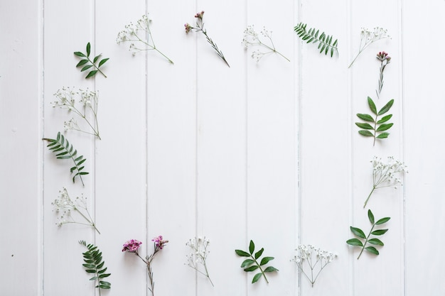 White boards with floral frame Free Photo