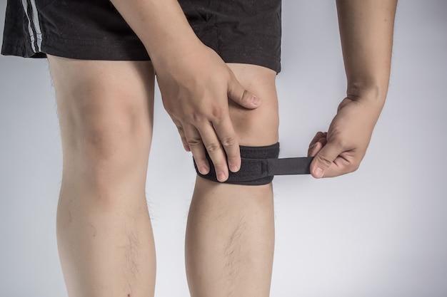 White brace flexible pad man Free Photo