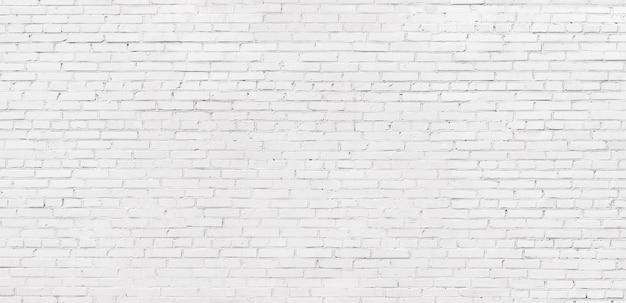 White brick texture background Premium Photo