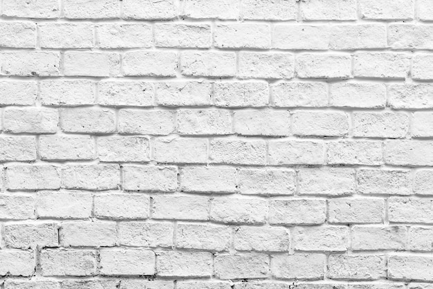 White brick wall background Free Photo
