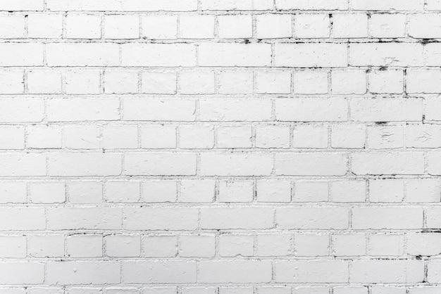 Free Photo White Brick Wall Background