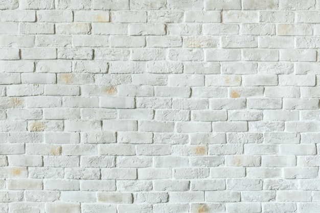 White brick wall background Free Photo