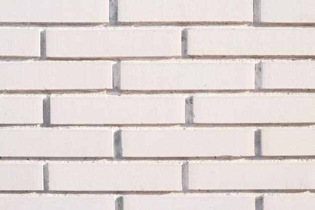 白いレンガの壁の背景 無料写真