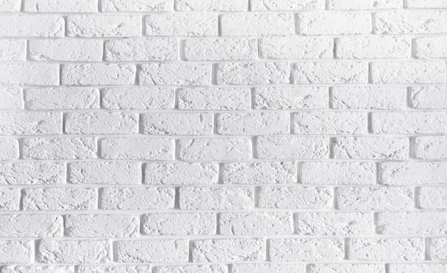 Белая кирпичная стена дома интерьер фон, пустые текстуры бетон цемент картина поверхности кладка кирпичная кладка абстрактные текстуры свет в возрасте краска шероховатый ржавые блоки каменной кладки с копией пространства Premium Фотографии