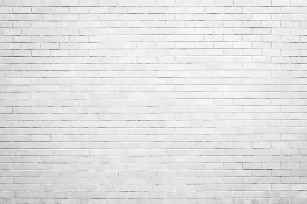 White brick wall texture and background with copy space Premium Photo