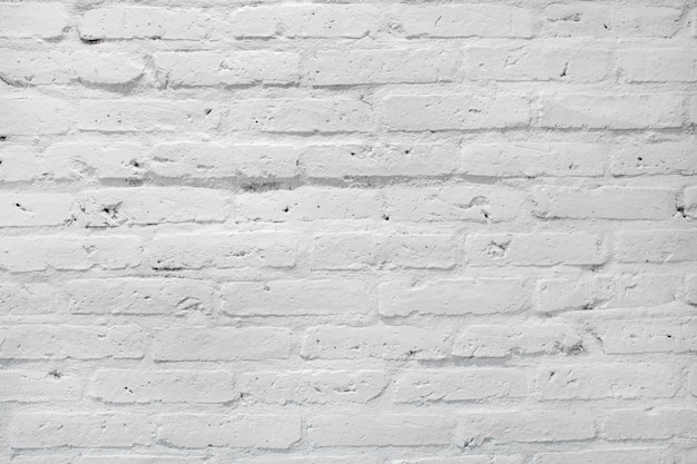 White brick wall texture for background. Premium Photo