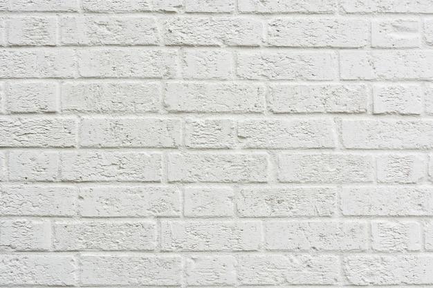 White brick wall texture background Premium Photo