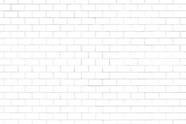 White brick wall textured background Free Photo