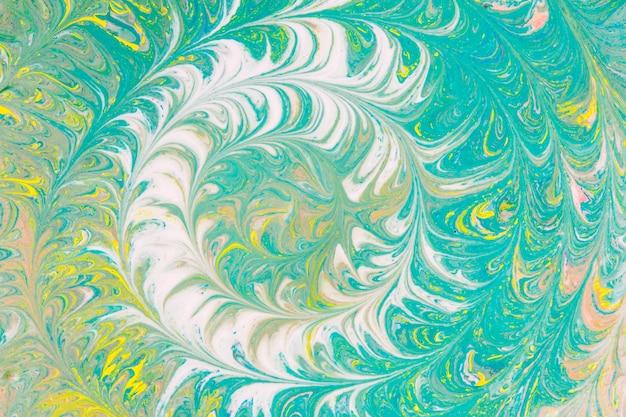 White brushstroke circles on turquoise background Free Photo