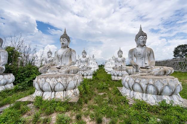 White buddha in thailand Premium Photo