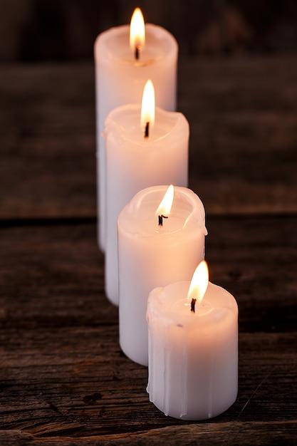White candles Free Photo