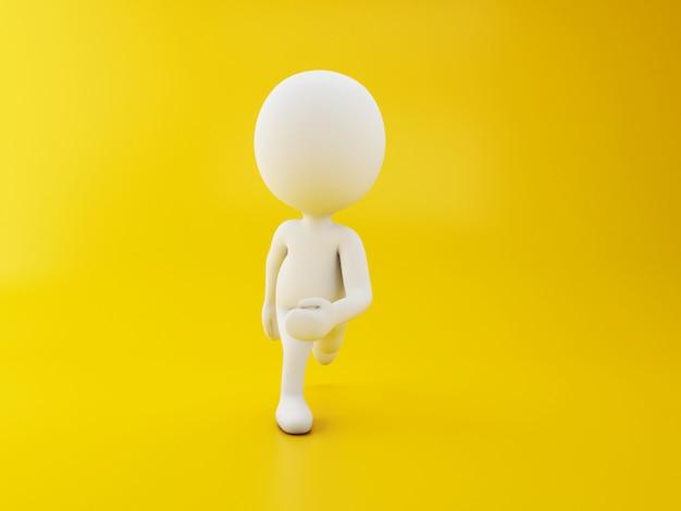 흰색 문자 달리기 프리미엄 사진