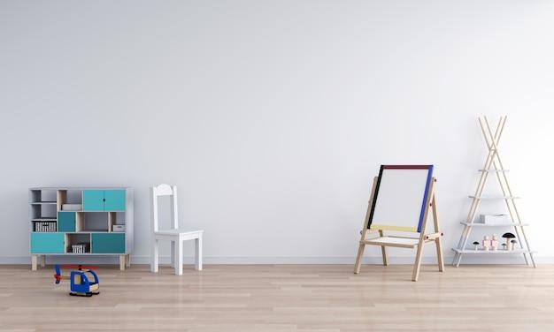 white child room interior for mockup 3d rendering photo premium