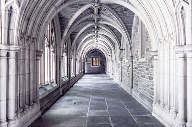White cloister Free Photo