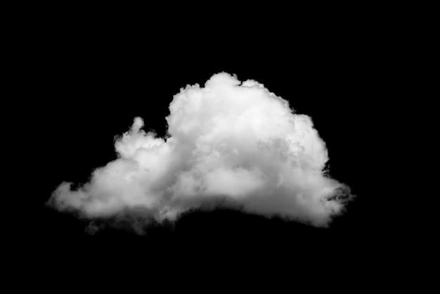 White cloud isolated on black background Photo | Premium