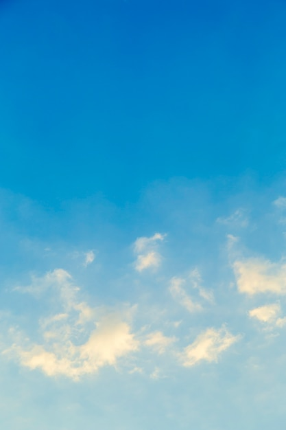 White clouds in blue sky picture Premium Photo